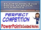 High School Economics Perfect Competition PowerPoint & Gui
