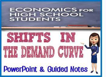 High School Economics Shifts in the Demand Curve PowerPoint with Notes