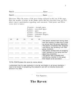 High School Edgar Allen Poe Poem Reenactment