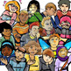 High School Emotions Clip-Art Bundle-Portrait and Full Body!  60 Pieces BW/Color