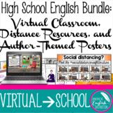 High School English Bundle Virtual Classroom, Distance Res
