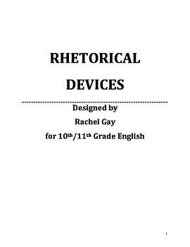 High School English Rhetorical Devices