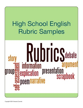 High School English Rubric Sampler
