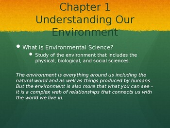 High School Environmental Science Lecture Slides (Ch. 1-4)