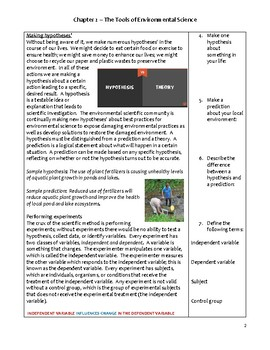 High School Environmental Science Notes - The Tools of Environmental Science