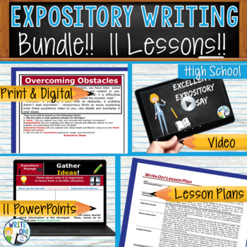 EXPOSITORY WRITING PROMPTS BUNDLE - 10 Lessons!!!!! - High School