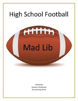 High School Football Madlib