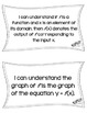 """Function HS Math CCSS """"I Can"""" Statements"""