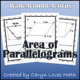 Area of Parallelogram w/ Trig&Pythagorean's Theorem Walk Around Activity