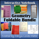 High School Geometry Foldable Bundle~10 sets~Triangles~Similar Figures~& More
