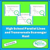 High School Geometry Parallel Lines with Transversals Scavenger Hunt