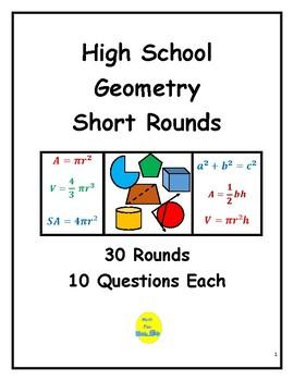 High  School Geometry Short Rounds