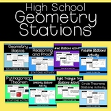 High School Geometry Stations Activities