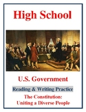 High School Government: The US Constitution - Uniting a Diverse People
