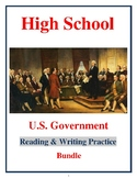High School Government Worksheet Bundle / Workbook