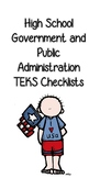 High School Government and Public Adminstration TEKS Checklist