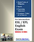 Upper High School Pre Intermediate ESL / EFL English Exam