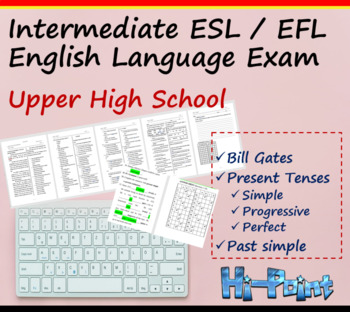 High School Grade 12 Intermediate ESL English Language Exam, Bill Gates, Grammar