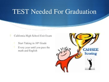 High School Graduation Requirements LAUSD PPT and Worksheet