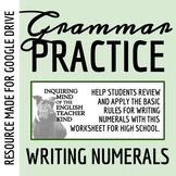 High School Grammar Packet: Writing Numerals and Using Active Voice