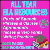 High School Grammar Worksheets | MEGA BUNDLE | 1053 PAGES | Gr 9-10 | ELA