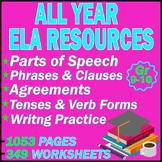 High School Grammar Worksheets | MEGA BUNDLE | 1053 PAGES | Gr 9-10 | ELA