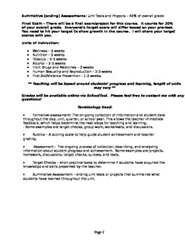 High School Health Course Outline