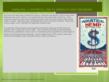 High School - Historical overview of marijuana in the US
