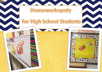 High School Homeworkopoly