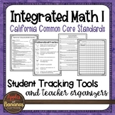 High School Integrated Math 1 - Student Tracking Tools and Teacher Organizers