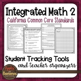 High School Integrated Math 2 - Student Tracking Tools and Teacher Organizers