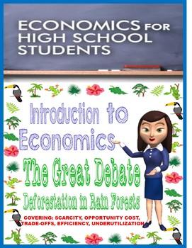 High School Intro to Economics Deforestation Debate Activity with Rubric