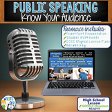 Public Speaking Speech Debate - Know Your Audience Lesson Google Classroom Ready