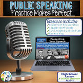 Public Speaking Speech Debate - Practice Makes Perfect Google Classroom Ready