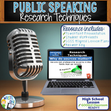 PUBLIC SPEAKING, DEBATE, AND SPEECH - RESEARCH TECHNIQUES - High School