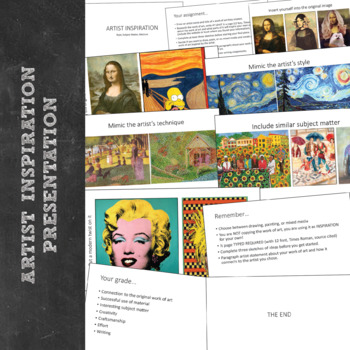 High School Introduction to Art Advanced Art Lesson: Artist Inspiration Project