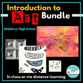 Distance Learning: High School Art Bundle-Introduction to Art