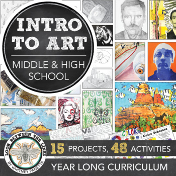 High School Introduction to Art or 8th Grade Art Yearlong or Semester Curriculum