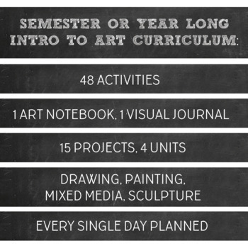 High School or Middle School Introduction to Art Yearlong or Semester Curriculum