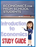 High School Introduction to Economics Study Guide with KEY