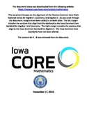High School Iowa Common Core Math Standards - Editable