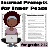 High School Journal Prompts for Inner Peace (Trauma Informed)