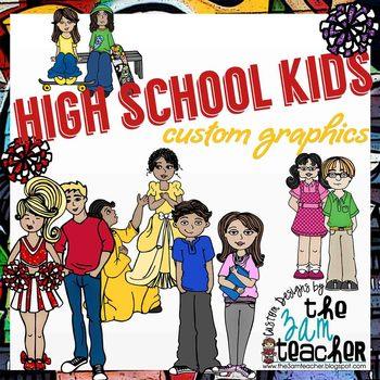 High School Kids Clip Art