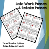 High School - Late and Retake Passes