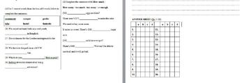 High-School Lower Intermediate ESL /EFL English Examination (Present Simple/Con)