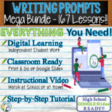 WRITING PROMPTS / LESSONS MEGA BUNDLE - 167 Lessons!!!! -