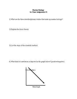 High School Marine Biology Chapter 1 Assignment