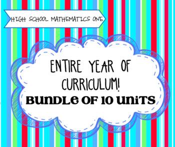 High School Math 1: ENTIRE YEAR BUNDLE!