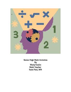 High School Math Activies