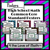 High School Math Common Core Standard Poster Bundle {Chevron}